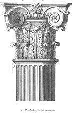 Kolom yang menggabungkan ion dan perintah korintus arsitektur
